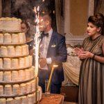 Tort de cocos & vanilie pentru Simona & Catalin la Noblesse Ballroom Mamaia